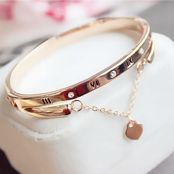 Heart Forever Bangle Bracelet - Jenicy