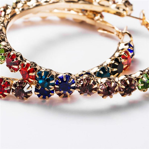Multi Colors Hoop Earrings for Women - Jenicy