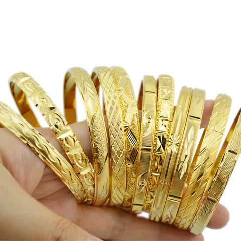 Gold Color Bangle Bracelet - Jenicy