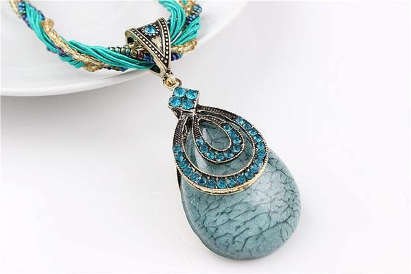 Stone Pendant Necklace - Jenicy