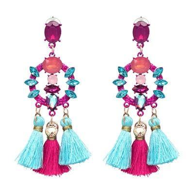 Tassel Statement Dangle Earrings For Women - Jenicy