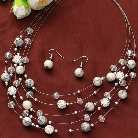 Chocker Necklace Earrings Set - Jenicy