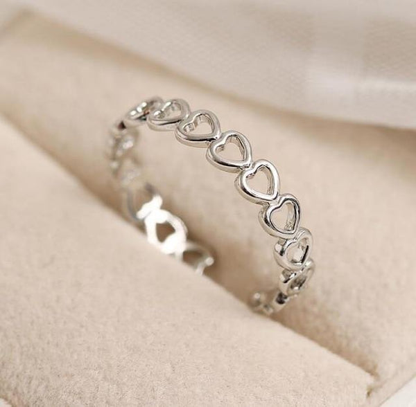 Adjustable Heart Shape Stackable Ring - Jenicy