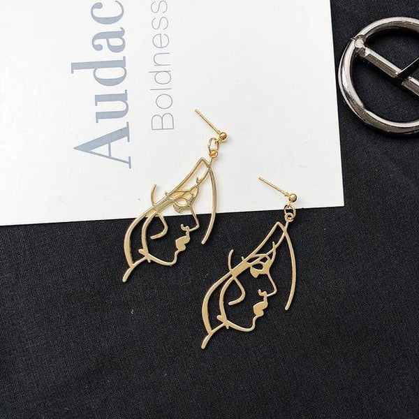 Abstract Hollow Drop Earrings - Jenicy