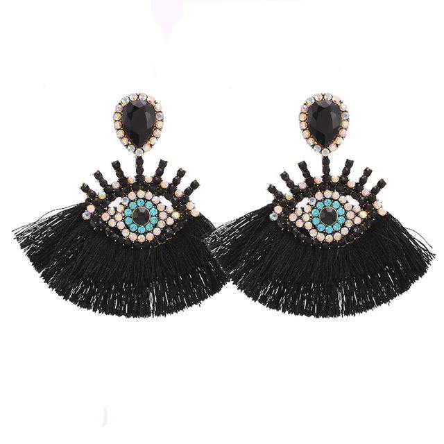 Vintage Tassel Dangle Earrings - Jenicy