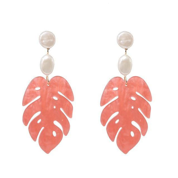Leafs Shape Dangle Earrings - Jenicy