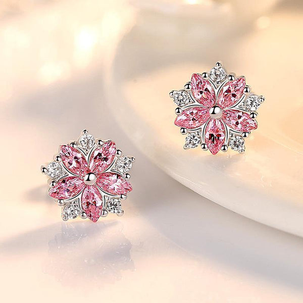 Flower Stud Earrings for Women - Jenicy