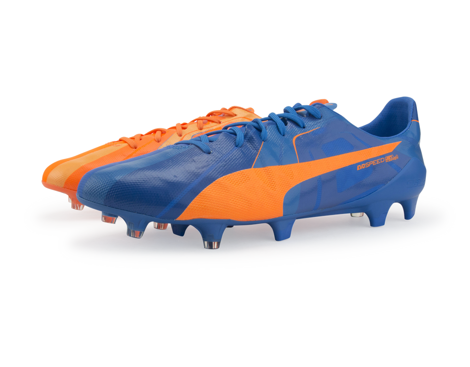PUMA Men's evoSPEED SL H2H FG Orange Clown Fish/Electric Blue Lemonade