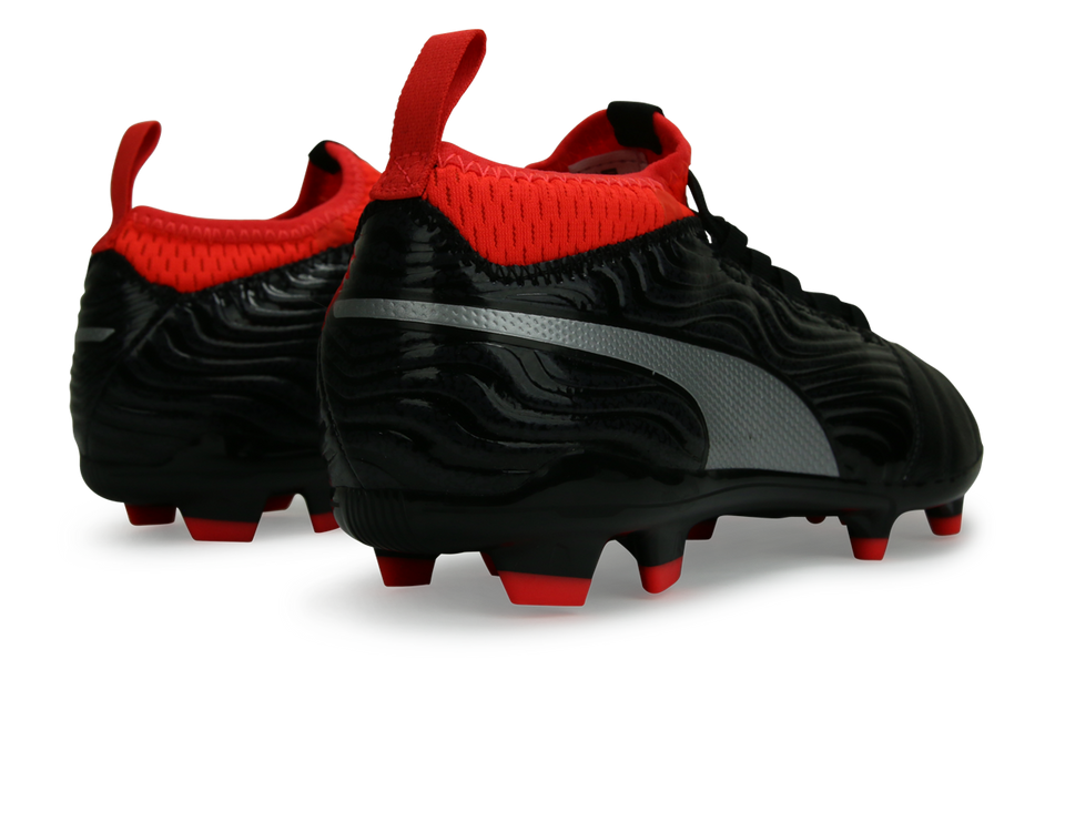 PUMA Men's One 18.3 FG Black/Silver/Red Blast