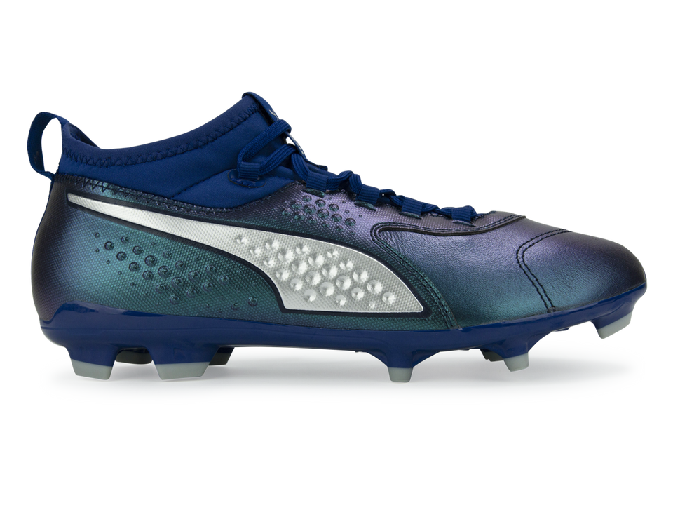 PUMA Men's One 3 Leather FG Blue