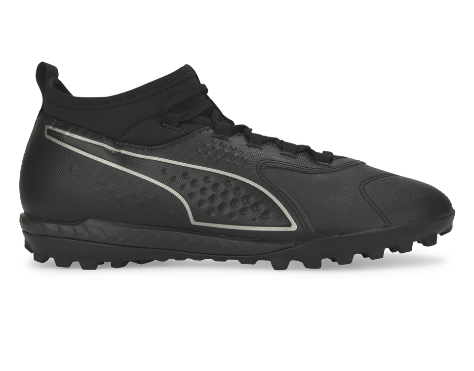 PUMA Men's ONE 3 Leather Turf Soccer Shoes Black
