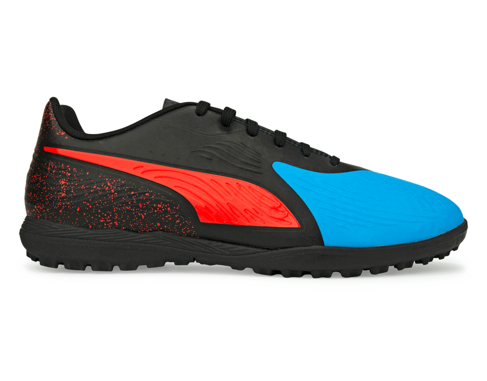 PUMA Men's One 19.4 Turf Soccer Shoes Bleu Azur/Red Blast/Black