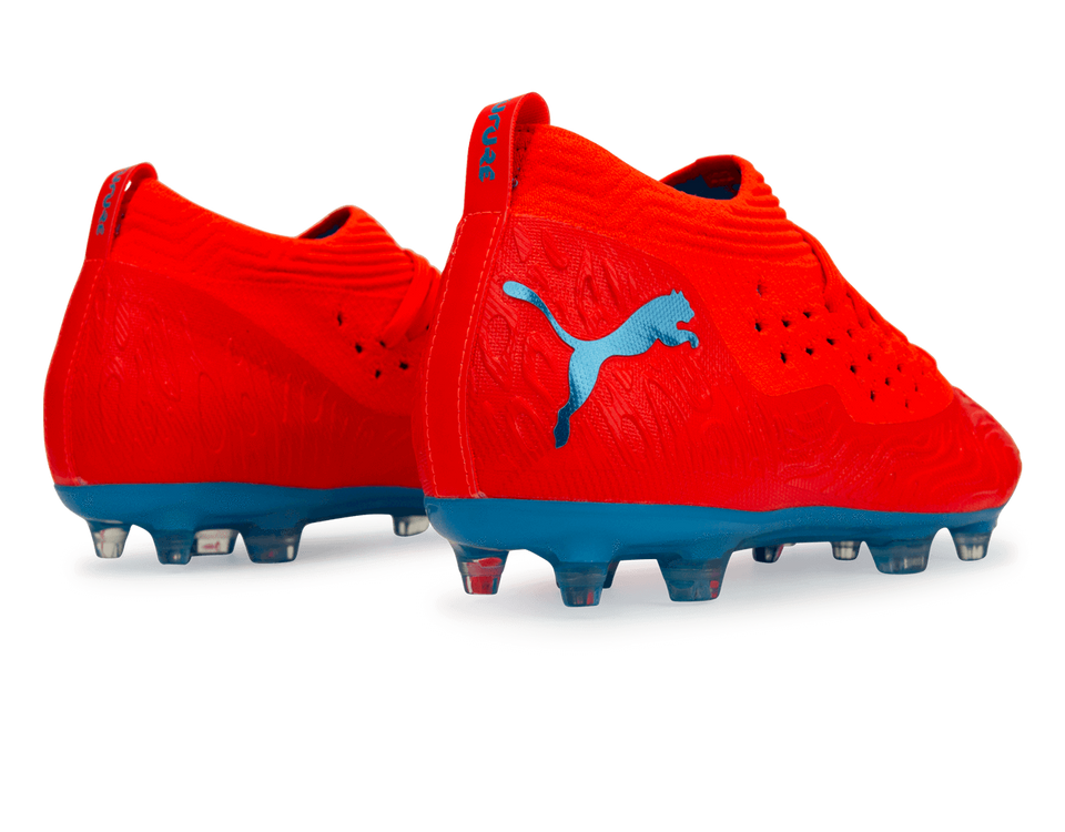 PUMA Men's Future 19.2 NetFit FG/AG Red Blast/Bleu Azur
