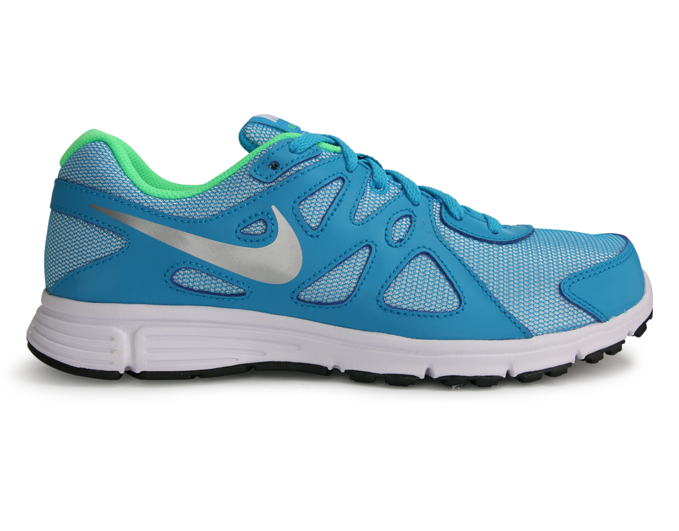 Nike Kids Revolution 2 GS Blue Lagoon/ Metallic Silver