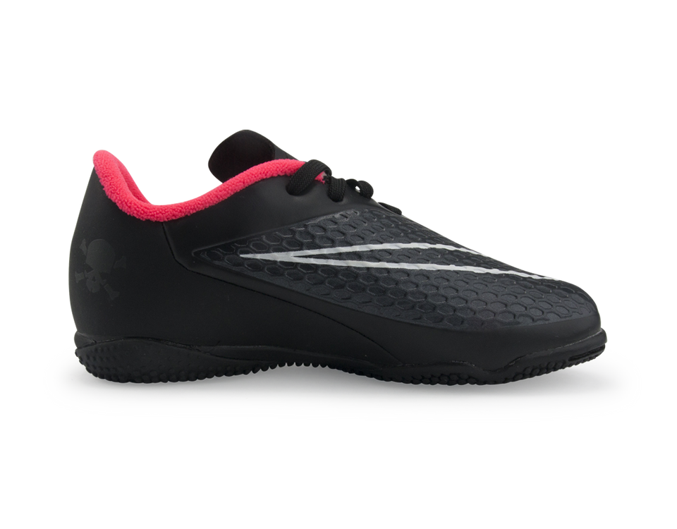 Nike Kids Hypervenom Phelon Indoor Soccer Shoes Black/Hyper Punch/White
