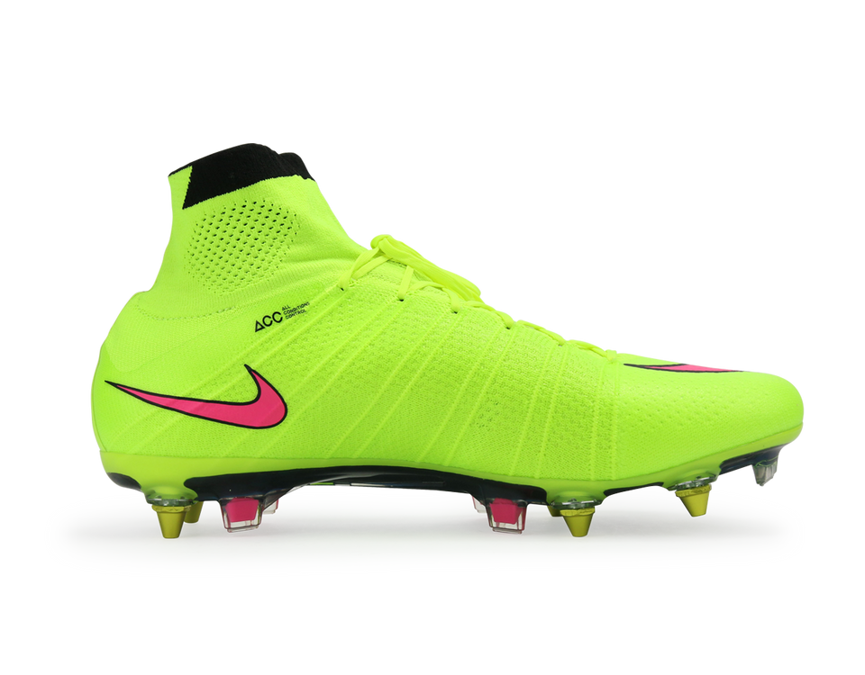 Nike Men's Mercurial Superfly SG-Pro Volt/Hyper Pink/Black