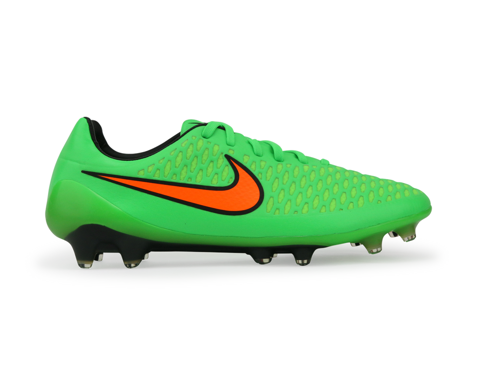 Nike Men's Magista Opus FG Posion Green/Total Orange/Flash Lime