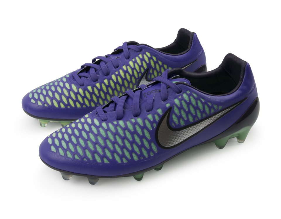 Nike Men's Magista Opus FG Hyper Grape/Metallic Sliver/Ghost Green