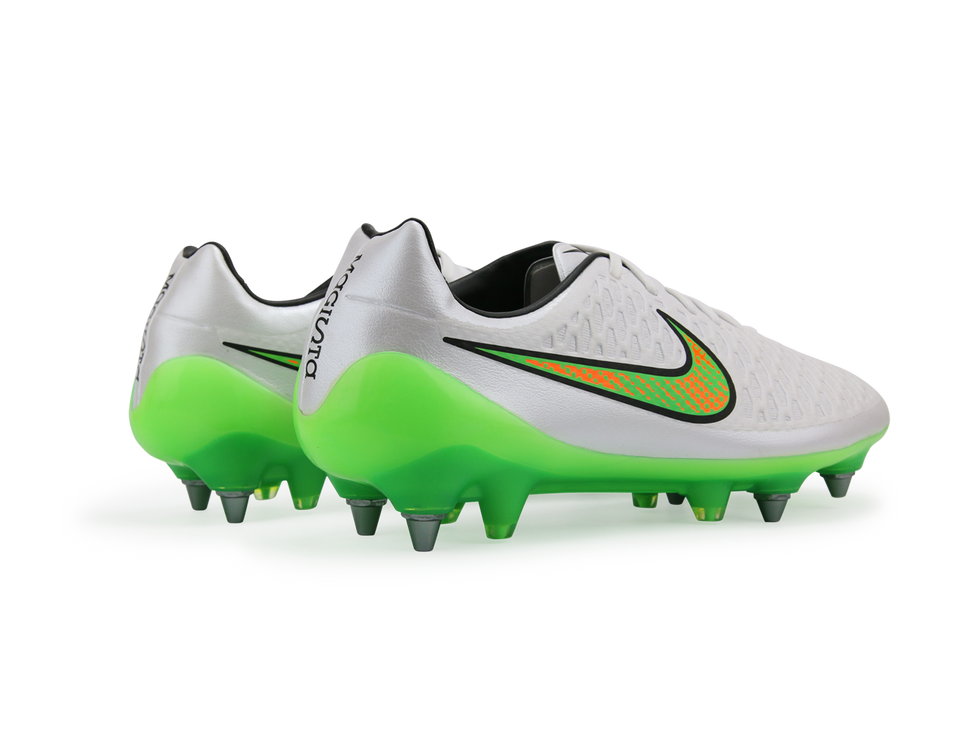 Nike Men's Magista Opus SG-Pro White/Poison Green/Total Orange