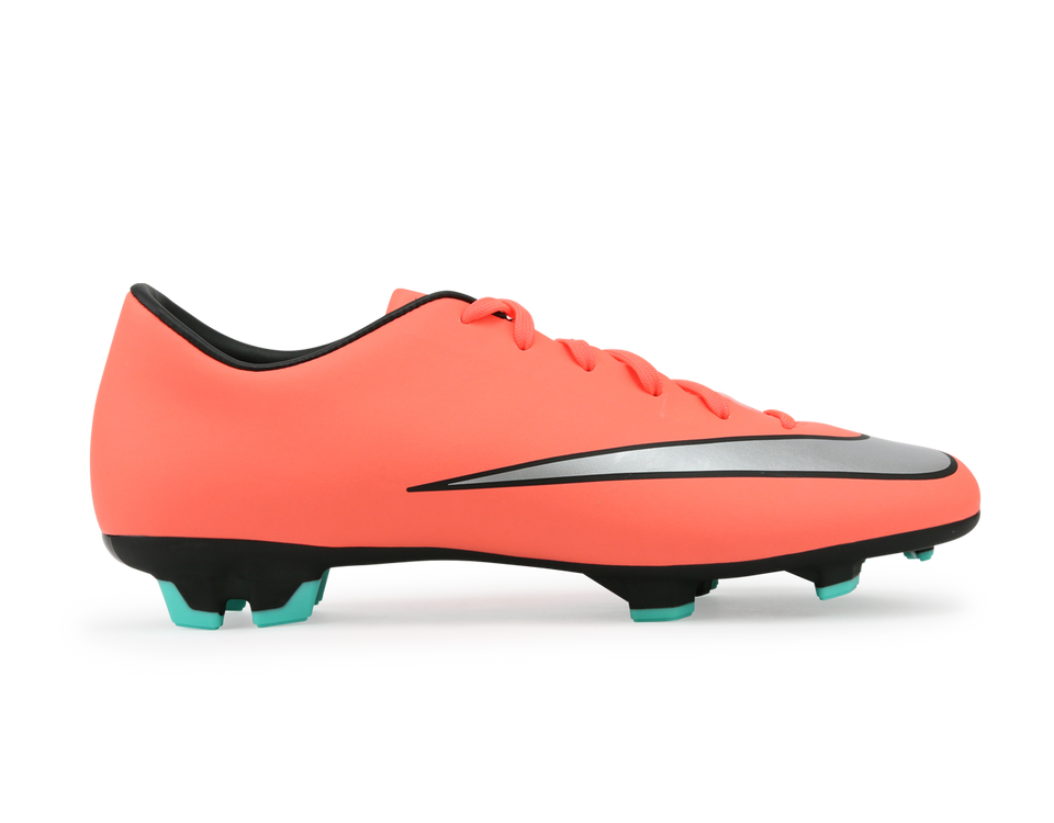 Nike Men's Mercurial Victory V FG Bright Mango/Metallic Silver/Hyper Turquoise