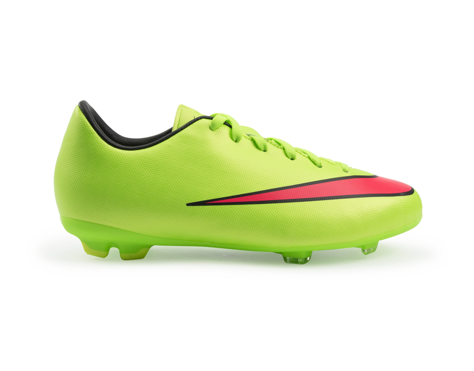 Nike Kids Mercurial Victory V FG Electric Green/Hyper Punch/Black