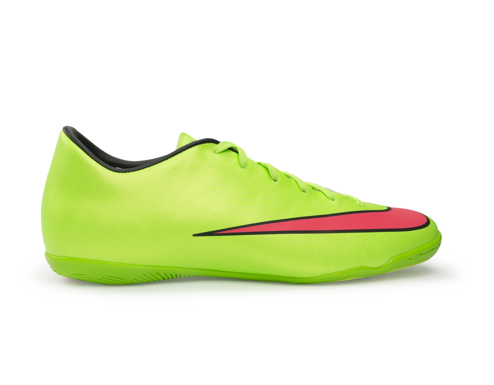 Nike Men's Mercurial Victory V Indoor Soccer Shoes Electric Green/Hyper Punch/Black