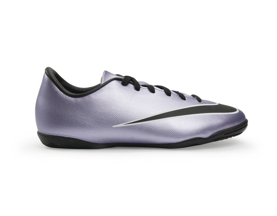 Nike Kids Mercurial Victory V Indoor Soccer Shoes Urban Lilac/Black/Brght Mango/White