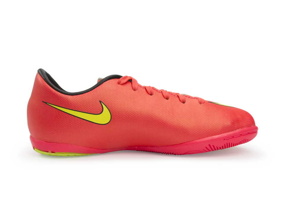 Nike Kids Mercurial Victory V Indoor Soccer Shoes Hyper Punch/Volt/Black