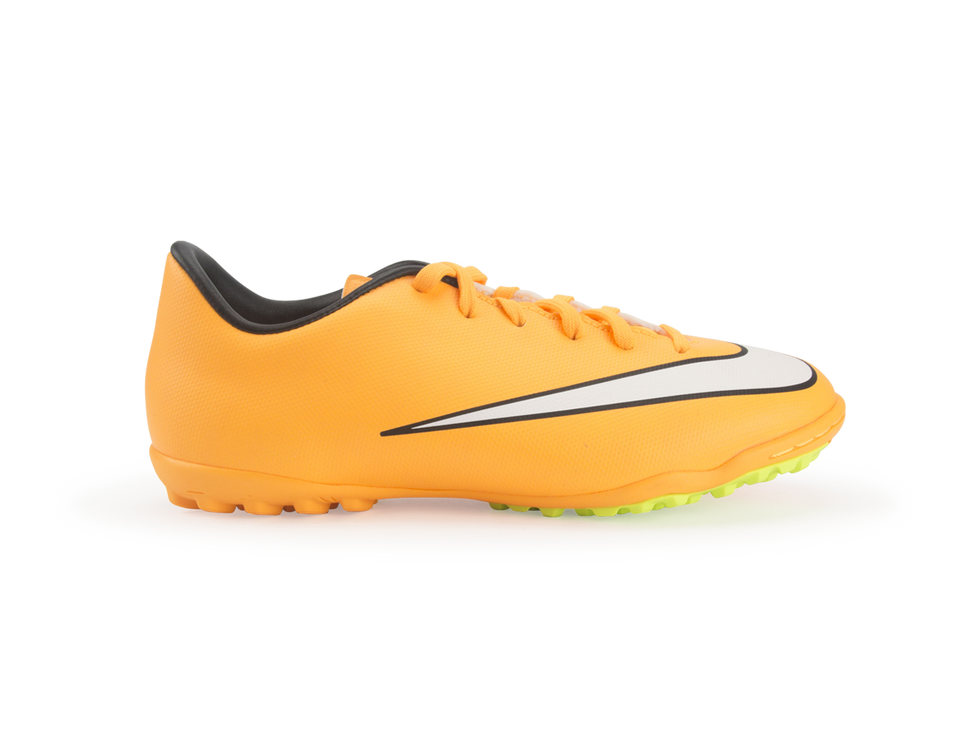 Nike Kids Mercurial Victory V Turf Soccer Shoes Laser Orange/Black/Volt