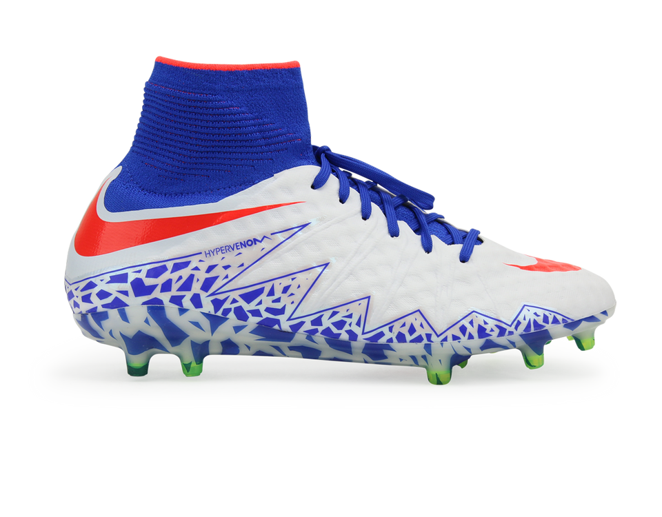 Nike Women's Hypervenom Phantom II FG White/Bright Crimson/Racer Blue