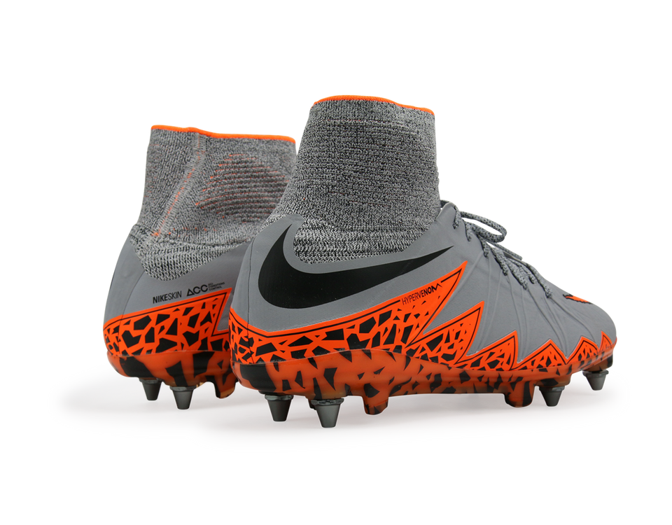 Nike Men's Hypervenom Phantom II SG-Pro Wolf Grey/Total Orange/Black