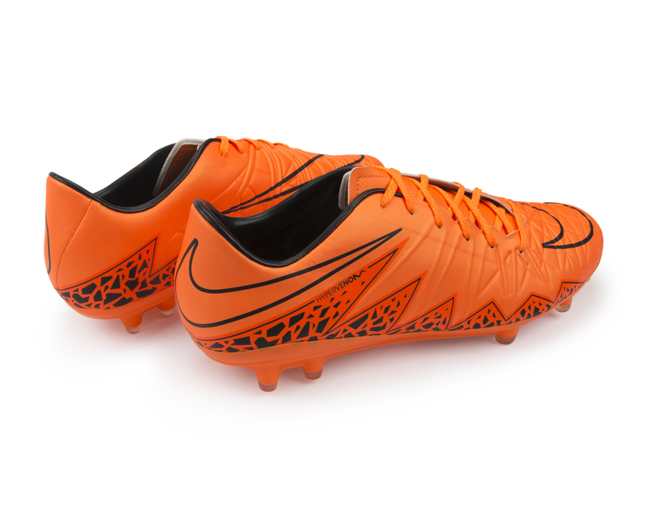 Nike Men's Hypervenom Phatal II FG Total Orange/Black/Ornage Noir