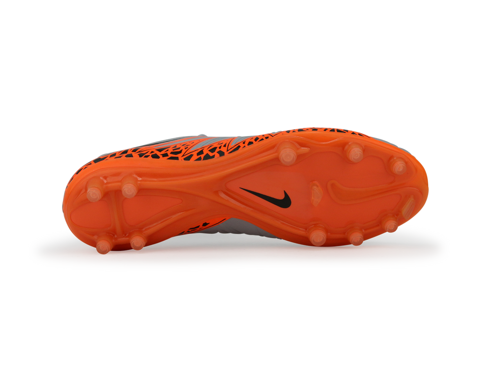 Nike Men's Hypervenom Phinish II FG  Wolf Grey/Total Orange/Black