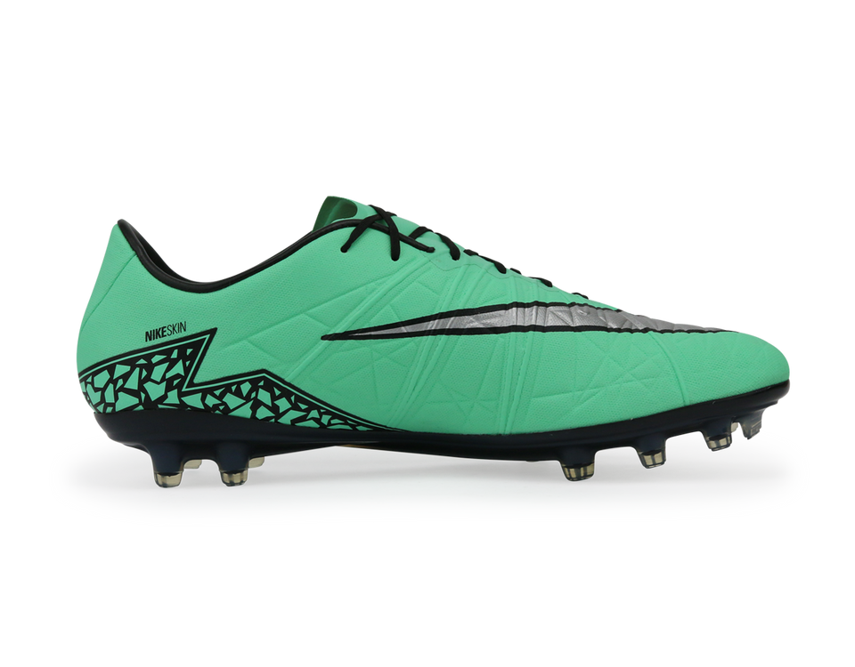 Nike Men's Hypervenom Phinish FG Green Glow/Mettalic Silver/Hyper Orange