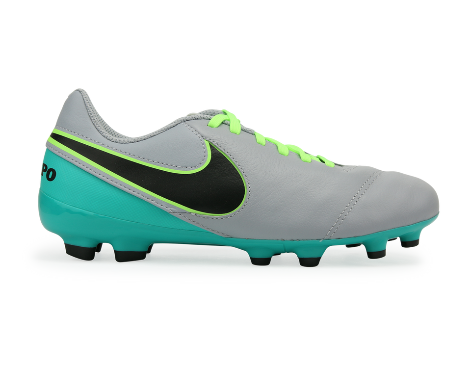 Nike Kids Tiempo Legend VI FG Wolf Grey/Black/Clear Jade