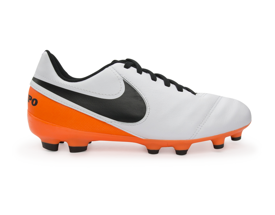 Nike Kids Tiempo Legend VI FG White/Black/Total Orange