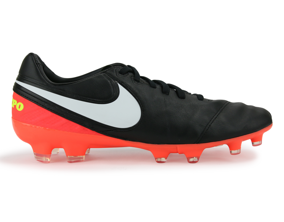 Nike Men's Tiempo Legacy II FG Black/White/Hyper Orange