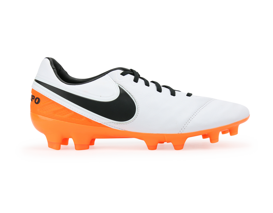 Nike Men's Tiempo Legacy II FG White/Black/Total Orange