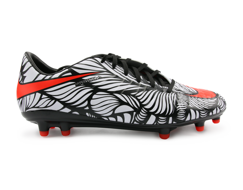 Nike Men's Hypervenom Phatal FG Black/Bright Crimson/White