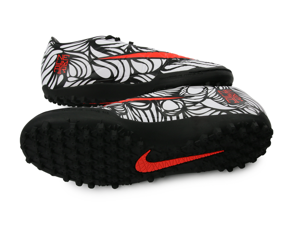 Nike Kids Hypervenom Phelon NJR Turf Soccer Shoes Black/Bright Crimson/White