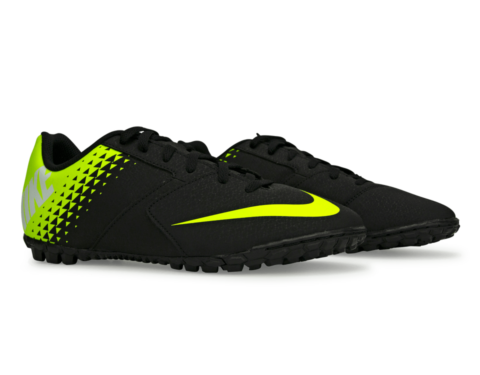 Nike Kids BombaX Turf Soccer Shoes Black/Volt/White