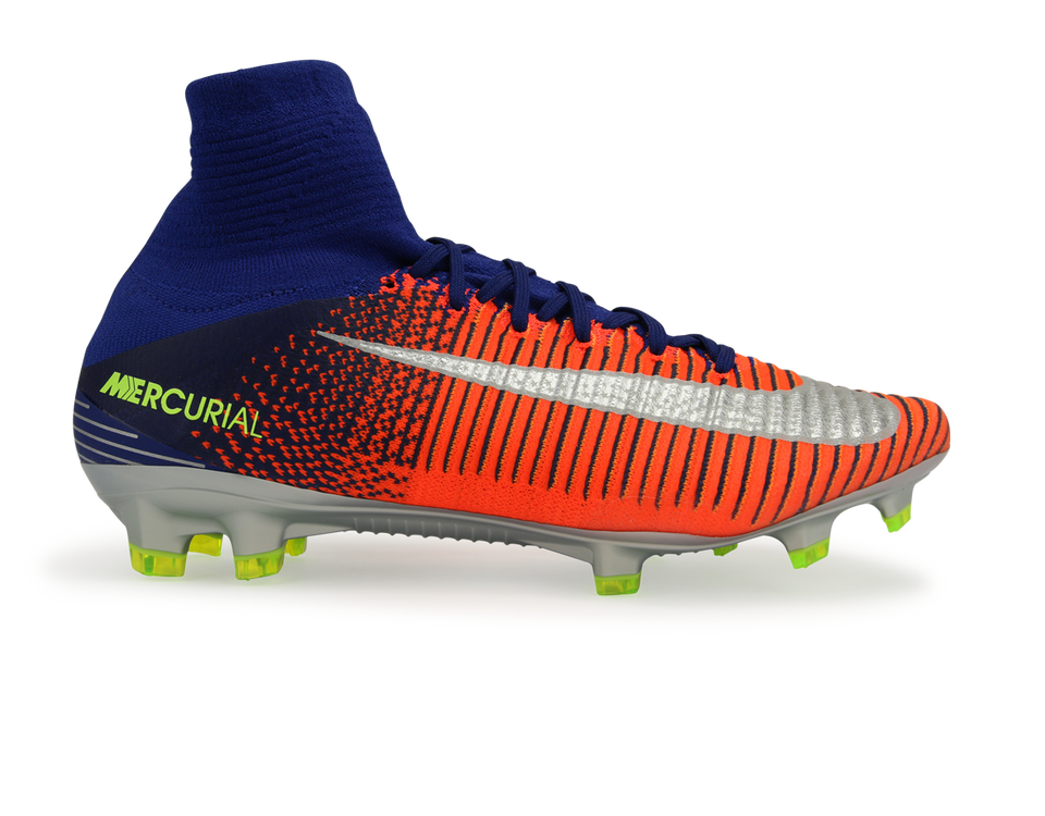 Nike Men's Mercurial Superfly V FG Deep Royal/Chrome/Total Crimson