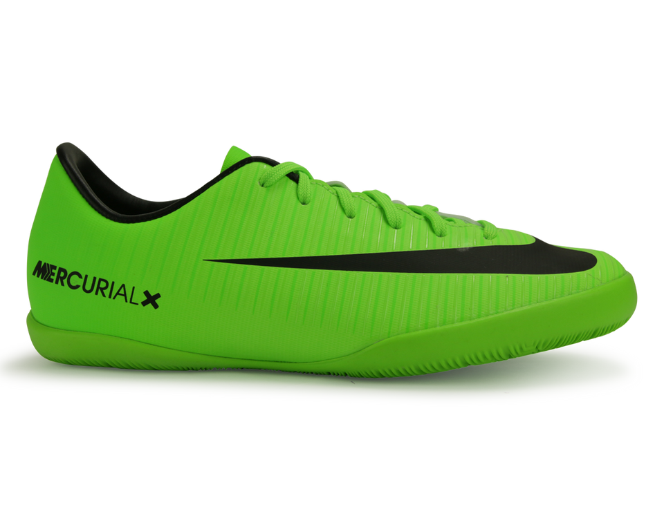 Nike Kids MercurialX Victory VI Indoor Soccer Shoes Electric Green/Black/Flash Lime