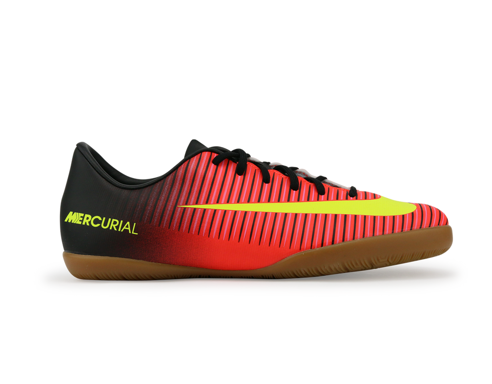 Nike Kids Mercurial Vapor XI Indoor Soccer Shoes Total Crimson/Volt Black/Pink Blast