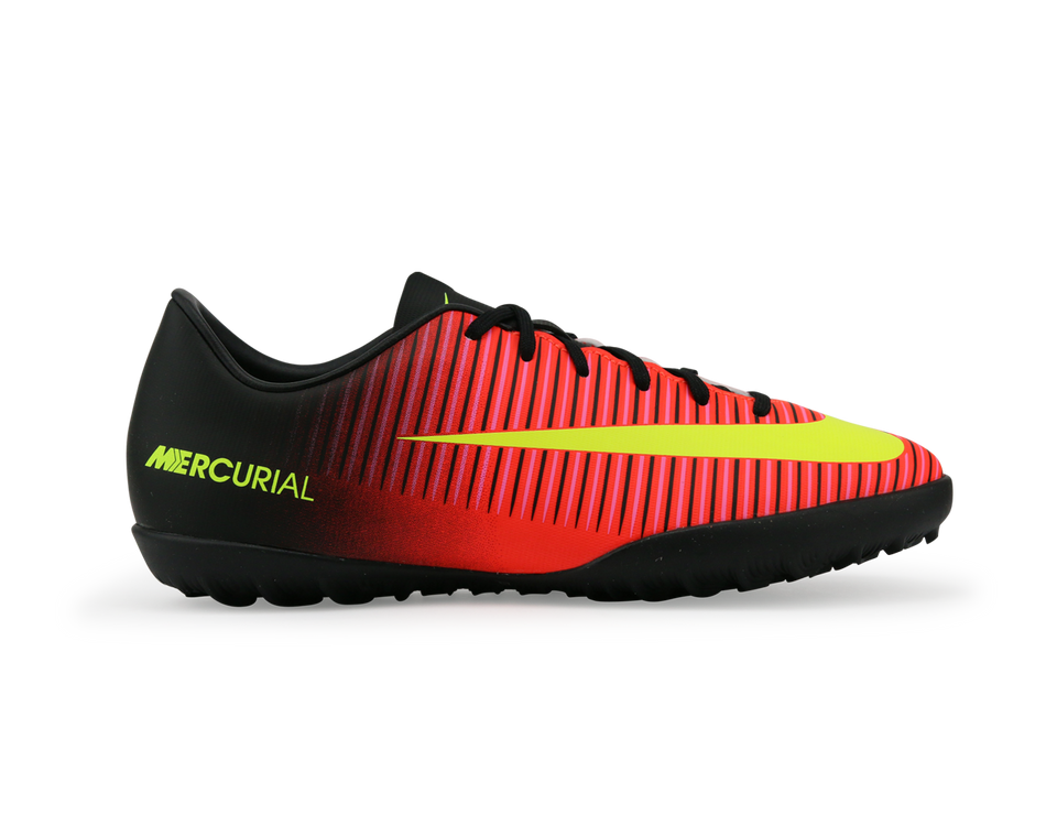 Nike Kids Mercurial Vapor XI Turf Soccer Shoes Total Crimson/Volt Black/Pink Blast