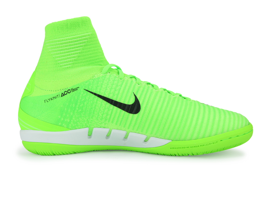 Nike Men's MercurialX Proximo II Dynamic Fit Indoor Soccer Shoes Electric Green/Black/Flash Lime