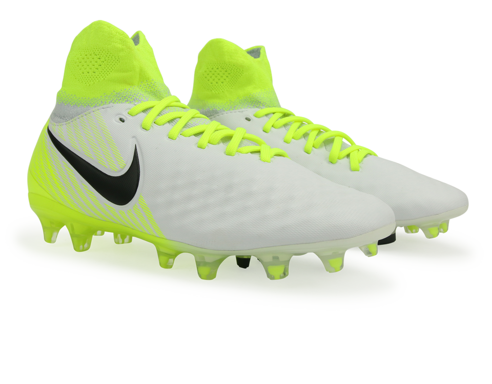 Nike Kids Magista Obra II FG White/Black/Volt/Pure Platinum