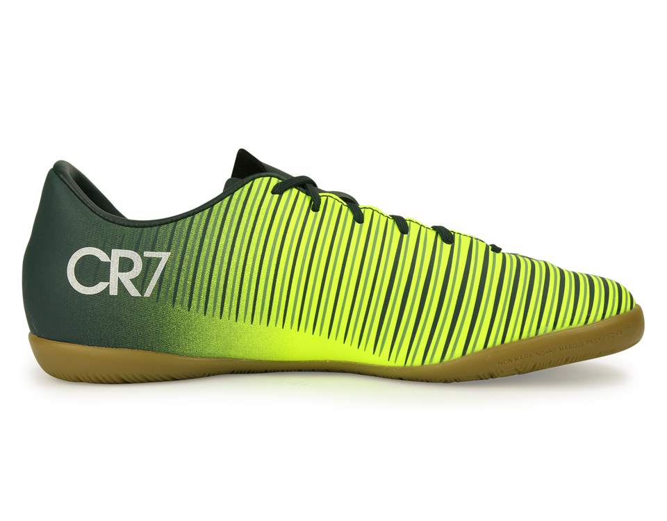 Nike Kids MercurialX Victory VI CR7 Indoor Soccer Shoes Seaweed/Volt/Hasta/White