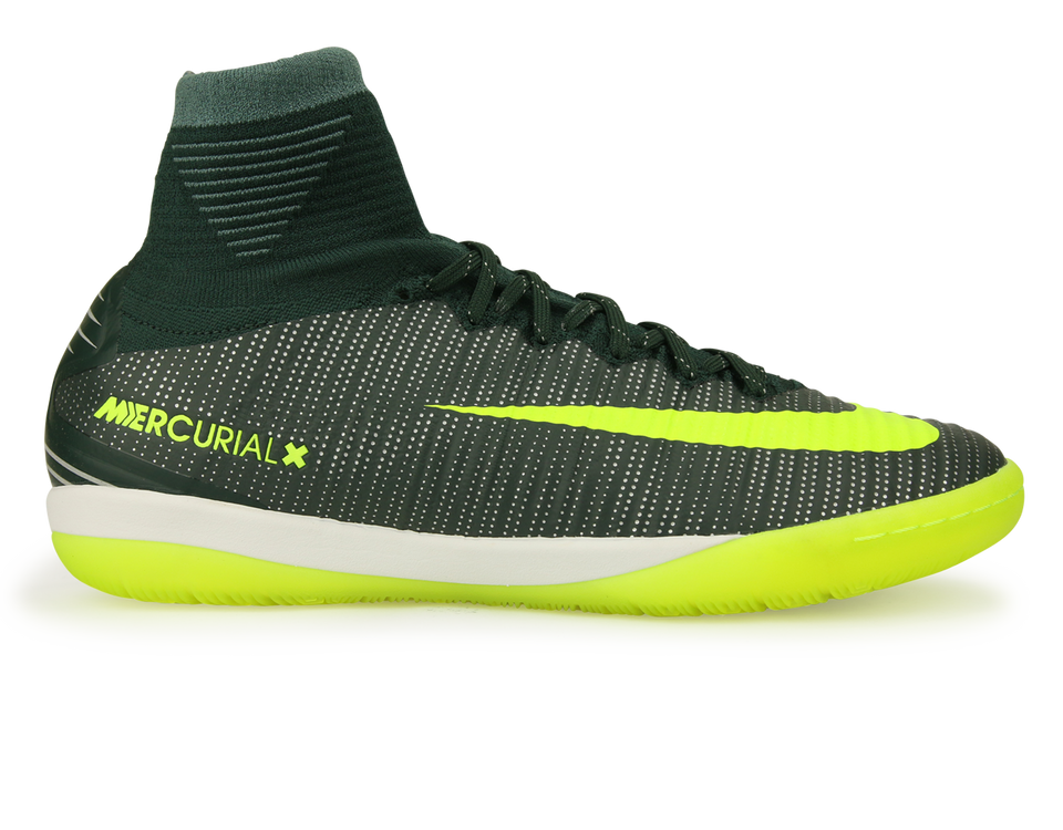 Nike Men's MercurialX Proximo II CR7 Indoor Soccer Shoes Seaweed/Volt/Hasta/White