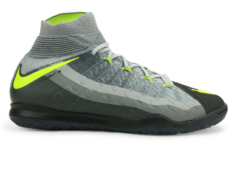 Nike Men's HypervenomX Proximo II DF Indoor Soccer Shoes Black/Volt/Dark Grey/Wolf Grey